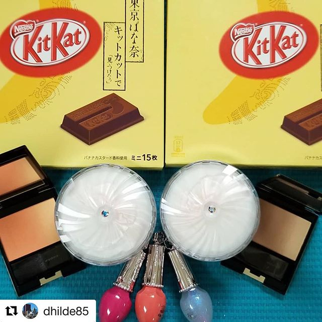 #Repost @dhilde85 with @get_repost・・・Thank you @fudejapan!! #suqqu #jillstuartbeauty #jillstuart #kitkat #tokyobanana #tokyobananakitkat