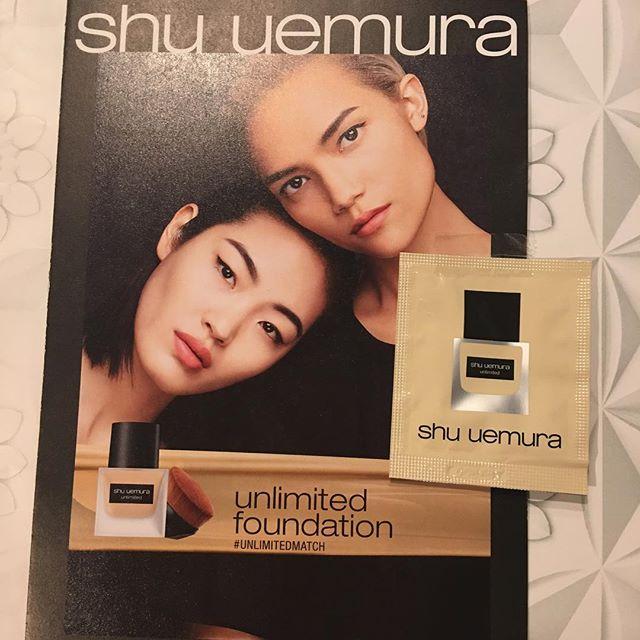 #shu uemura foundation sample