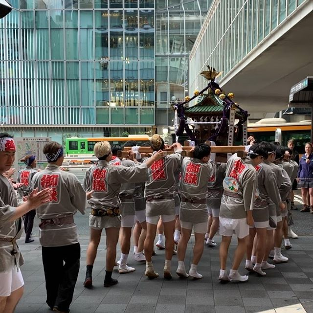 #omikoshi in the middle of #shibuya is new