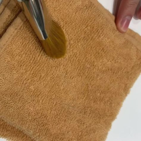 #Hakuhodo brush  cleaning cloth