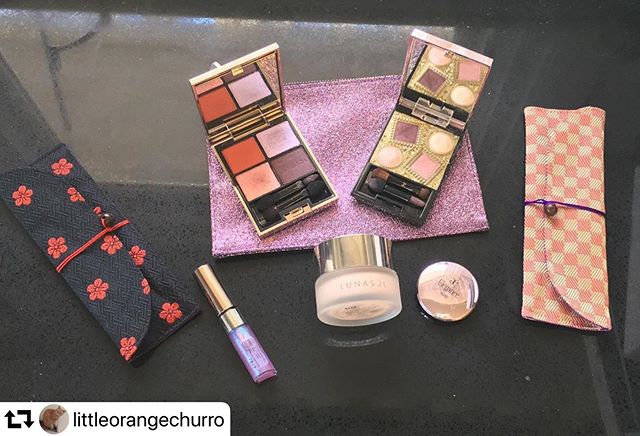 #repost @littleorangechurro・・・The holidays coffrets were so lovely this past season! Thank you @fudejapan for helping me order them. The Koyudo pouches are gorgeous in person….#lunasol #elegance #elegancecosmetics #koyudo #japanesemakeup #jbeauty