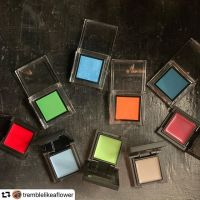 #repost @tremblelikeaflower・・・#swatchsaturday  beauty Spring colour edition!.Vibrant colour seems to be trending across many Japanese brands this spring..@addictionbeauty_official 'Holi Color' collection is a riotous (nearly neon) collection of 8 eyeshadows, plus some coordinating lipsticks and nail polishes. I have 4 of the 8 shades (skipped the red, pink, purple and yellow most of which were matte) and have 155 New Forest, 156 The Blue City, 158 Orange Marigold and 159 Vishnu Blue. By western standards these are not super pigmented but for Asian beauty the saturation is rich. They have a beautiful translucency which gives a kind of hazy quality while still providing punchy colour..@celvoke.jp 'For Our Preciousness' collection is also a colourful one, with 9! new brightly coloured Infinitely Color Cream shades being introduced, as well as 9 lipsticks and 3 eyeliners. I picked up the 5 limited shades of Infinitely Color; EX07 Signal Red, EX08 Blue Surface, EX09 Sea Green, EX10 Stellar Grey and EX11 Spiral Pink. As with most Infinitely Color, the shades look more vibrant in the pan than on the skin but I find this gives them more versatility. I'm most looking forward to the middle 3 shades but the red and pink will also be useful..How do you feel about all of this colour for spring? Does it make you excited?