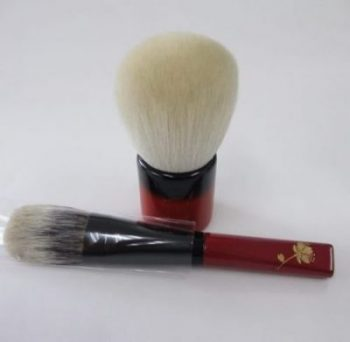 #Kihitsu red handles Saikoho powder White Canadian squirrel cheek