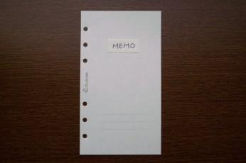 MEMO(Memorandumなど類縁も)