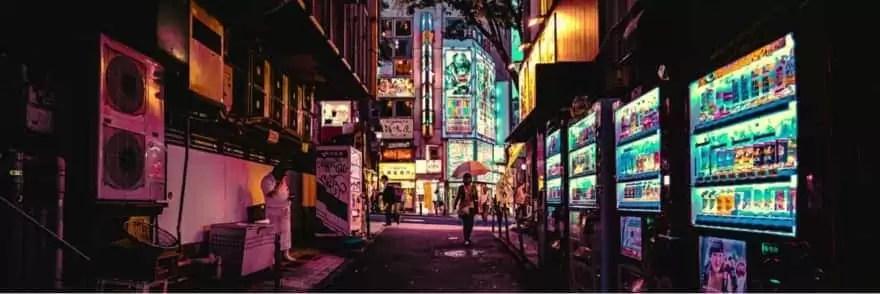 自動販売機夜間のイメージ