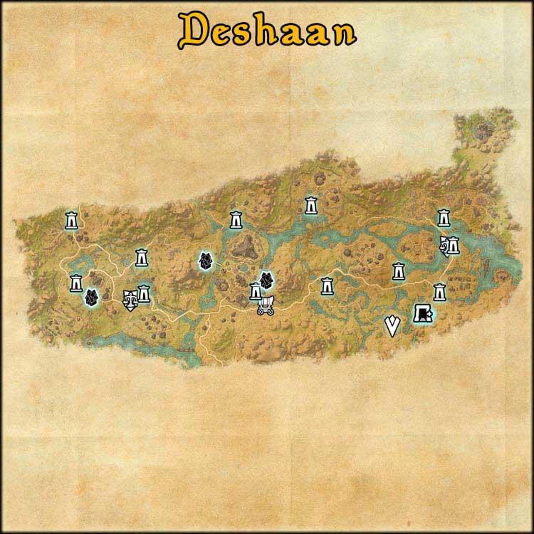Mapa de Fragmentos Baston de Deshaan