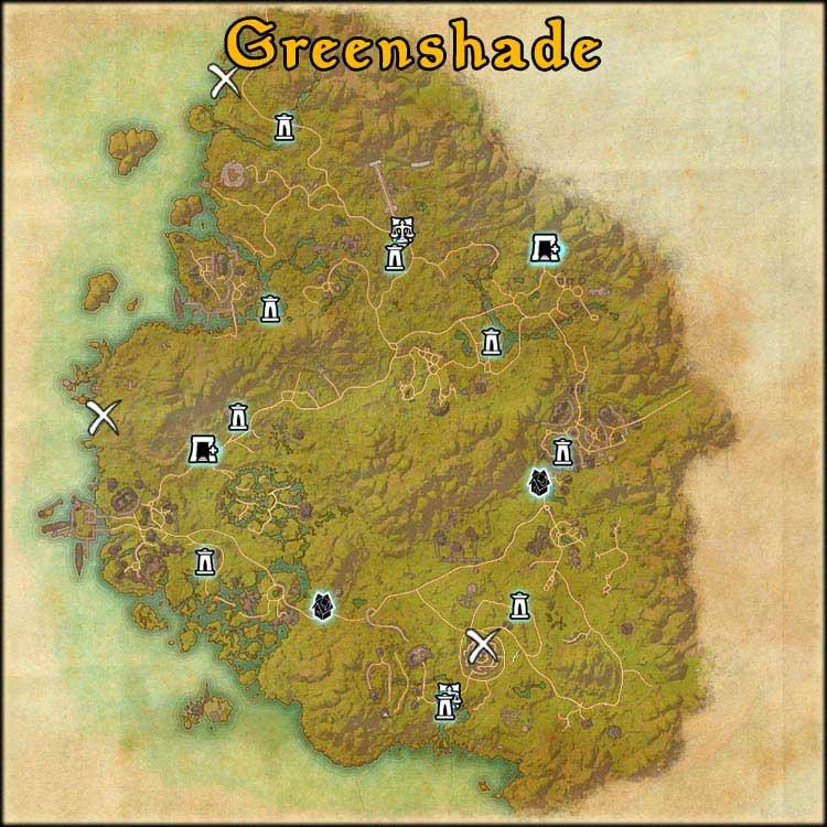 Mapa Greenshade