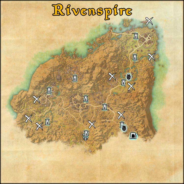 Mapa de Time Rifts de Rivenspire