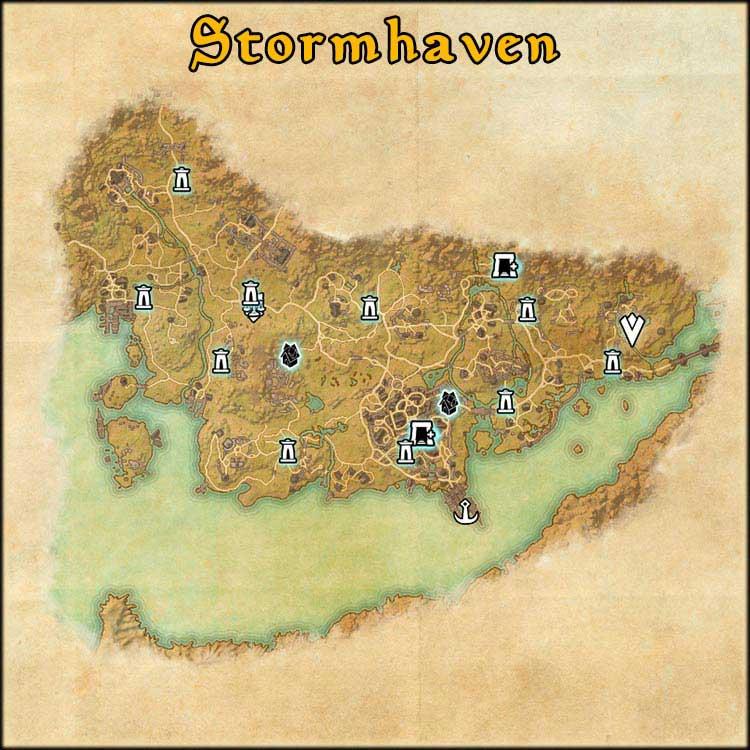 Mapa de Fragmentos Baston de Stormhaven