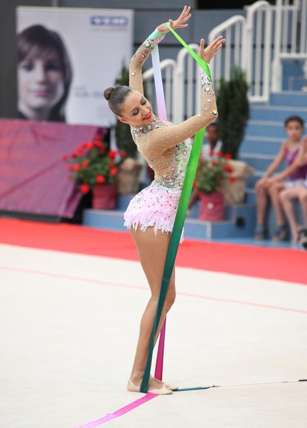 Evgenia Kanaeva, representante de Rusia en gimnasia rítmica.