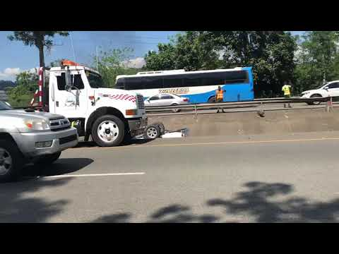 VIDEO: Tres heridos en accidente Bonao