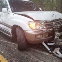 VIDEO: Dos muertos y tres heridos en accidente de tránsito en autopista Duarte