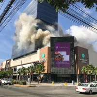 Incendio en la plaza Downtown Center