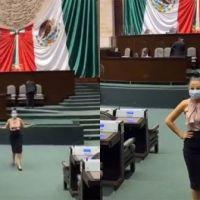 VIDEO: Diputada mexicana bailando reggaetón de El Alfa en pleno congreso
