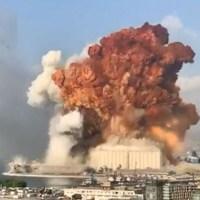 Fuerte explosión en el puerto de Beirut deja al menos 50 muertos y 2,700 heridos