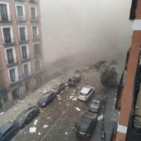 Una fuerte explosión destroza edificio en pleno centro de Madrid