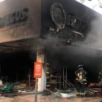 Un joven murió por inhalación de humo en incendio farmacia Los Hidalgos