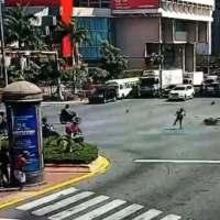JUZGUE USTED: Video capta choque motorista y vehículo escolta vicepresidencial