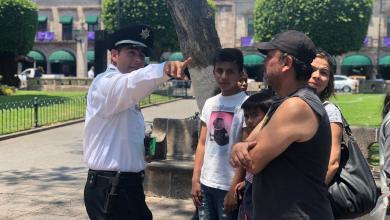 Atiende Policía Turística de Morelia a visitantes