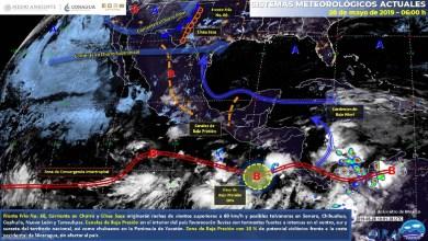 Tormentas fuertes a intensas acompañadas de actividad eléctrica en Oaxaca y Chiapas