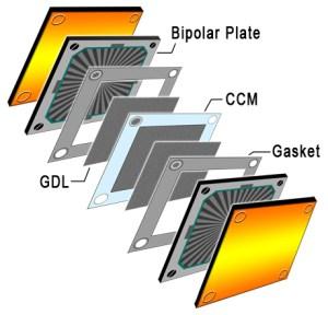 Membrane Electrode Assembly Diagram