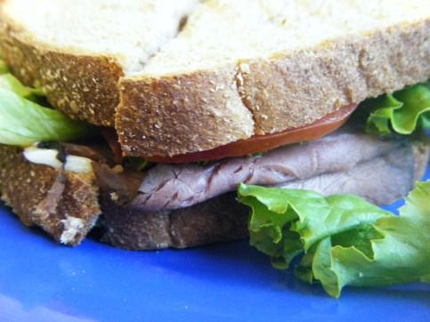 Roast Beef sandwich on wheat