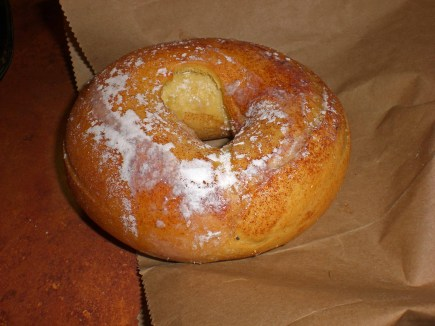 French toast bagels from Panera make their appearence often.
