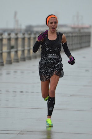 In 2013, I ran Hair of the Dog Road Race in a dress (for the formal race division) and won overall female.