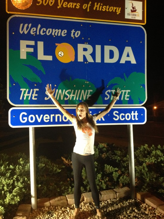 Pit stop in Florida!