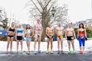 In summary of the race...running half naked.