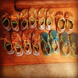But really...this was only a few pairs I went through...the orange model was my favorite