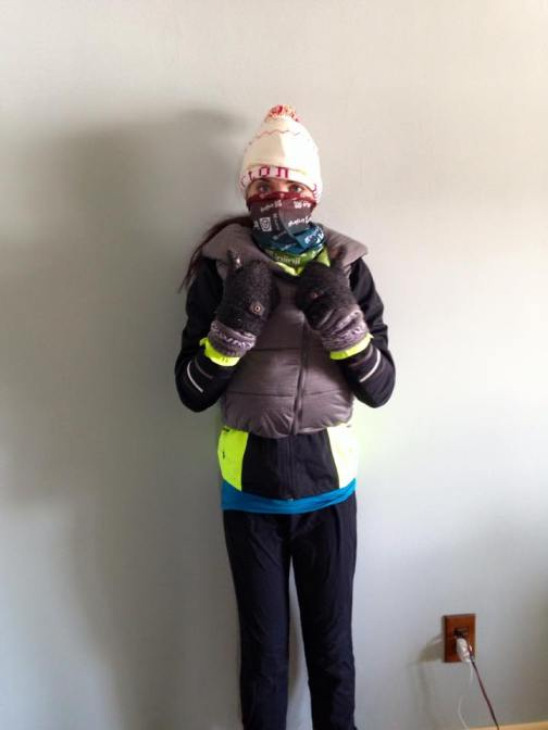 running outdoors layering me