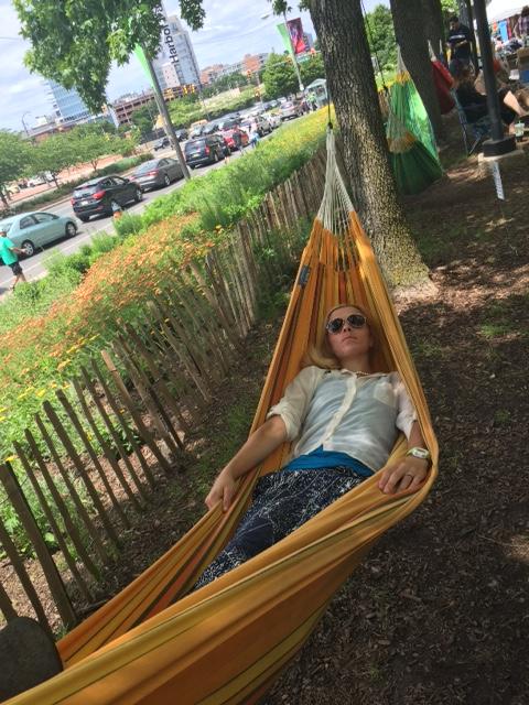 Naps in hammocks...probably not that sanitary