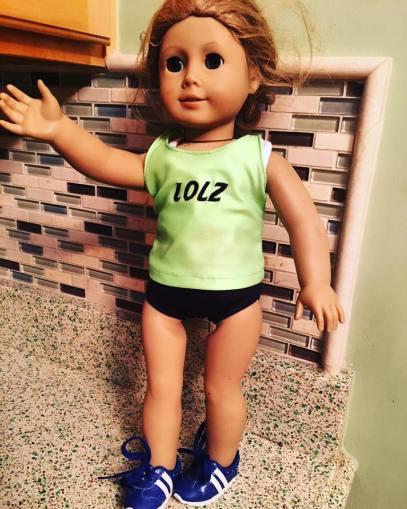 runner american girl doll