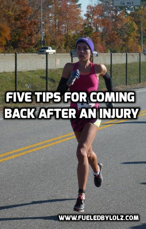 Five Tips for Coming Back after an Injury