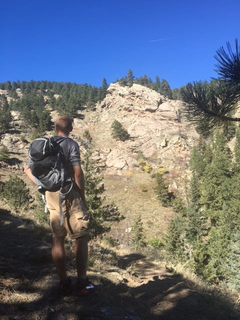 hiking flagstaff mountain boulder