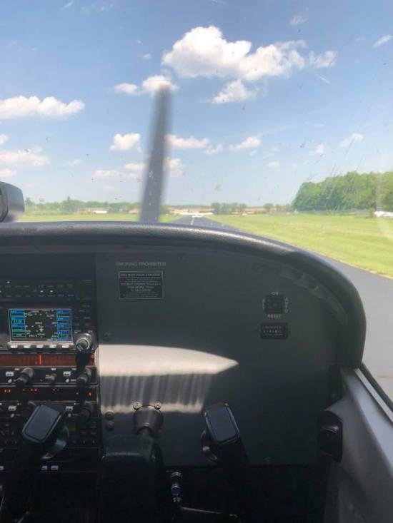 flying over nj