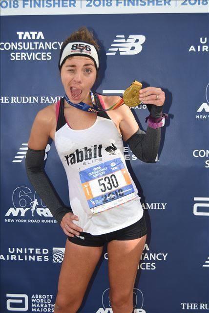 New York City Marathon me running