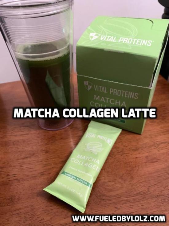 matcha collagen latte vital proteins
