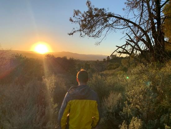 Hiking anderson park santa clara county