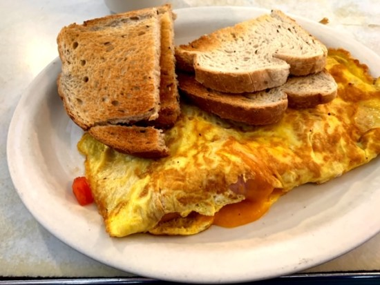 Exmore Diner Virginia omelet