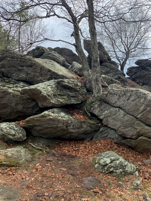 Chimney Rocks Trail via Hermitage and Appalachian National Scenic Trail