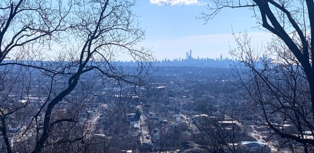 Garrett Mountain Reservation new york city skyline