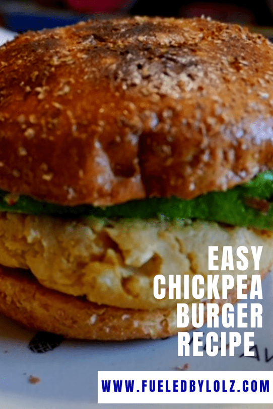 Easy Chickpea Burger Recipe