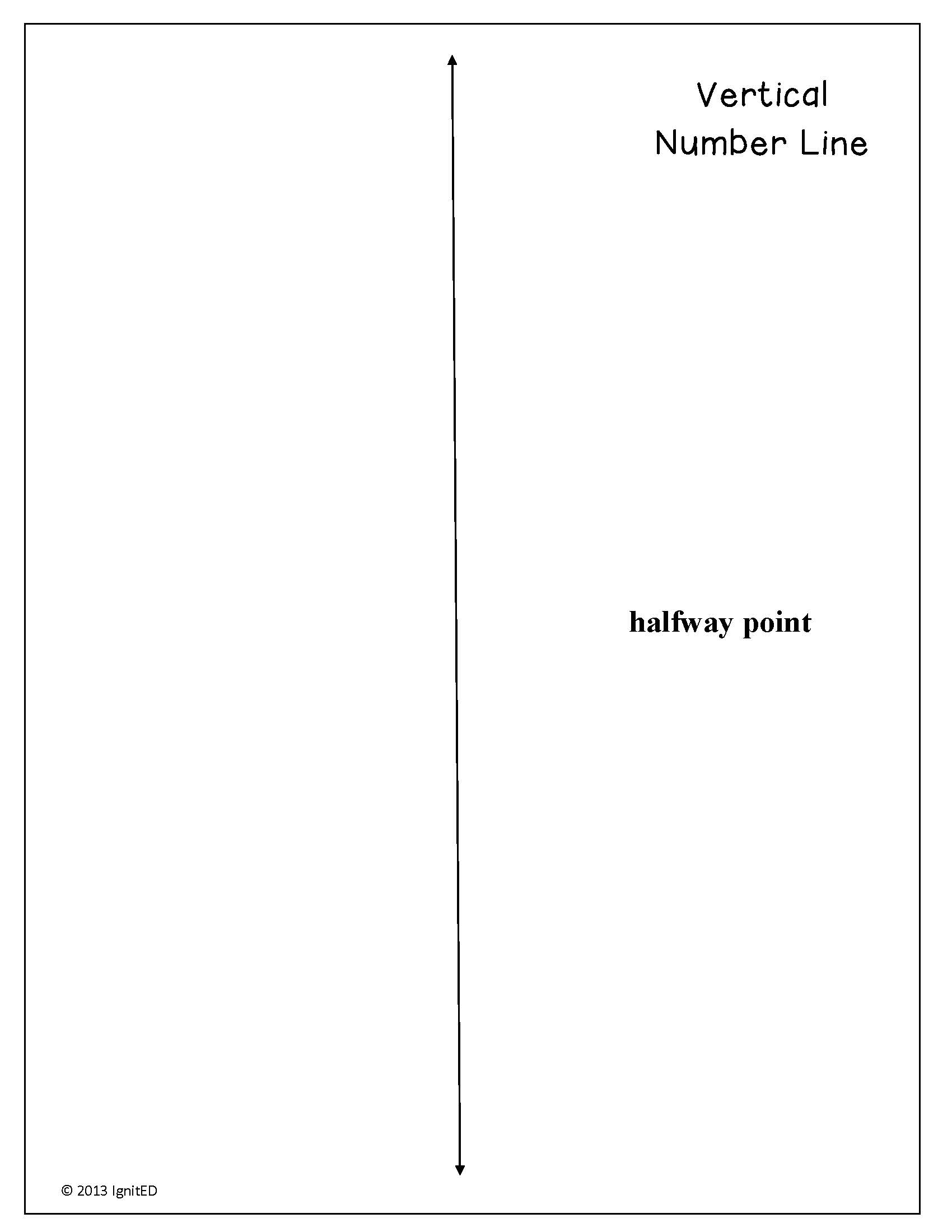 Rounding Decimals Using Vertical Number Line Worksheet