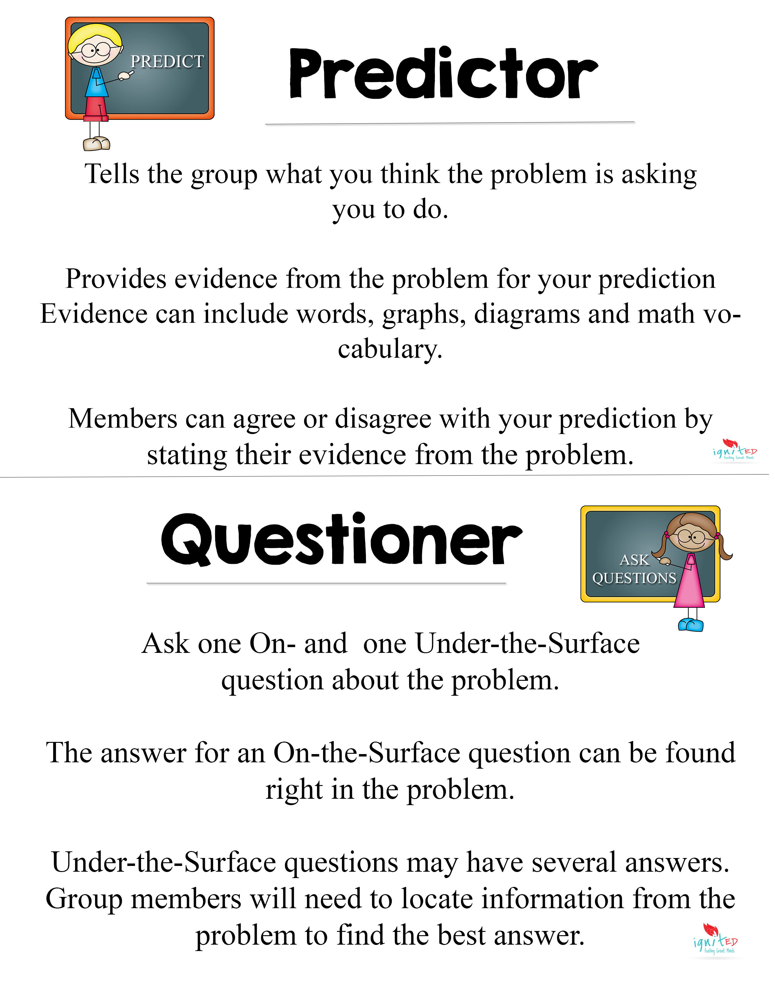 Problem Solving Reading Group Roles