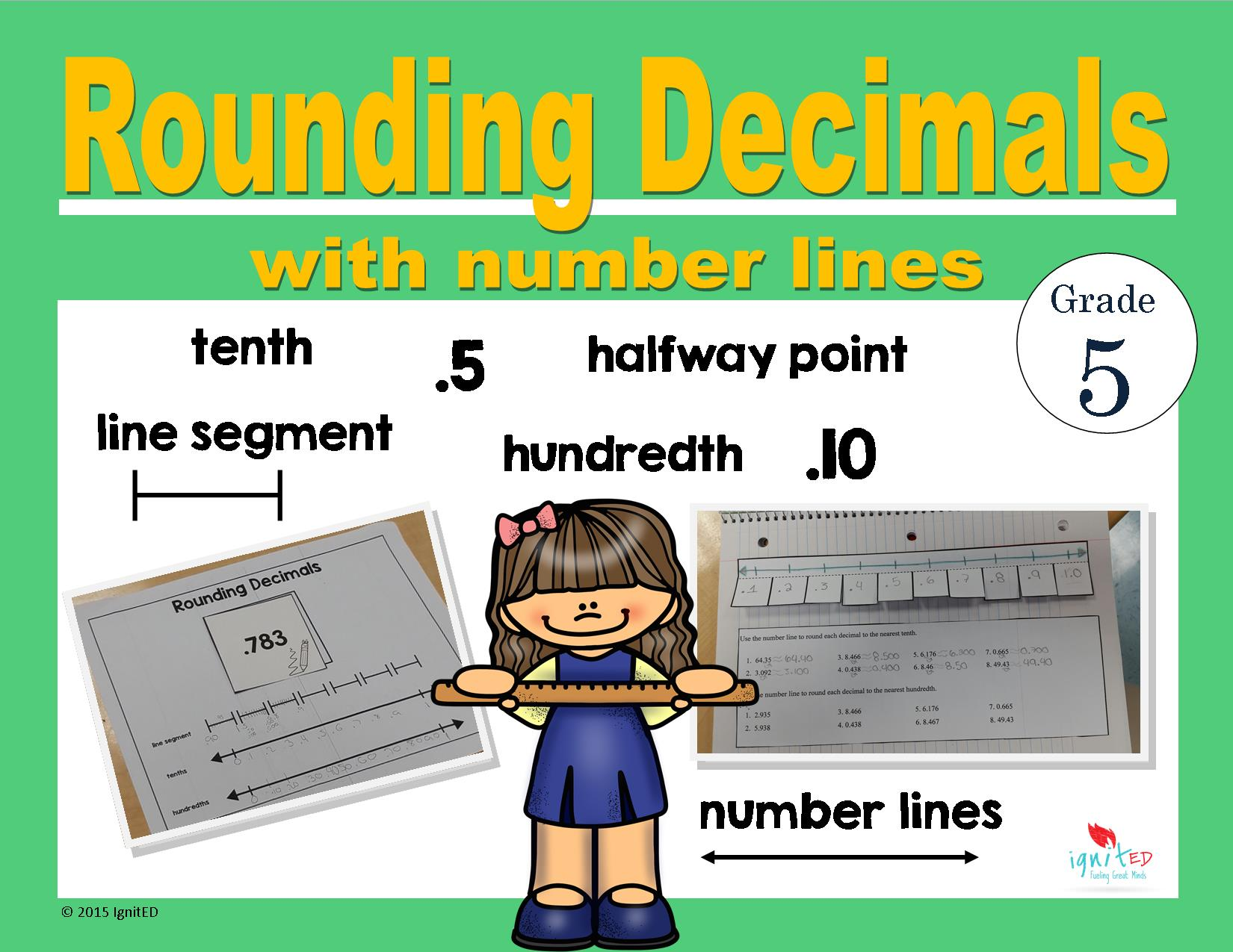 Rounding Decimals With Number Lines