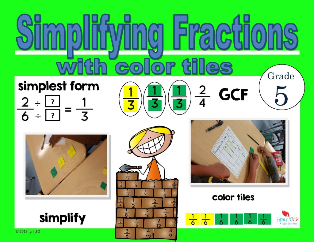 Worksheet Equivalent Fractions Simplifying