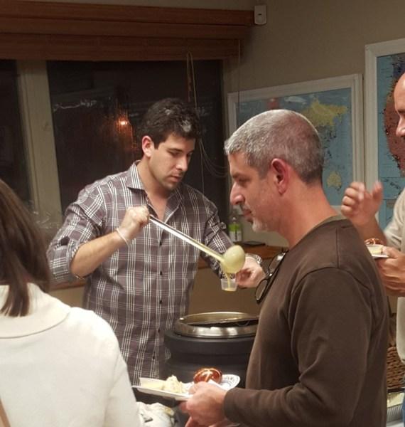 Scott K Serving Beer Cheese
