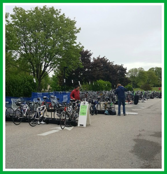 Shamrock Duathlon and 3.3 mile run - Bike Transition